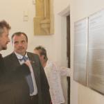 Radní Václav Kroutil v rozhovoru s ředitelem Východočeského muzea v Pardubicích Tomášem Libánkem