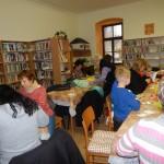 Tvořívá dílna v nové knihovně v obci Vysočina