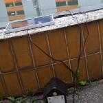 opravený bazének s fontánkou poháněnou na solární energii