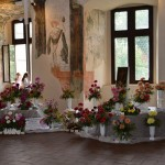 Více než tři tisíce květů jiřin krášlí pardubický zámek